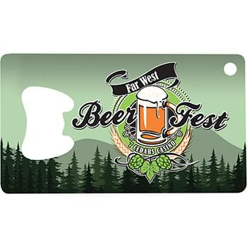 Full Color Metal Wallet Bottle Opener
